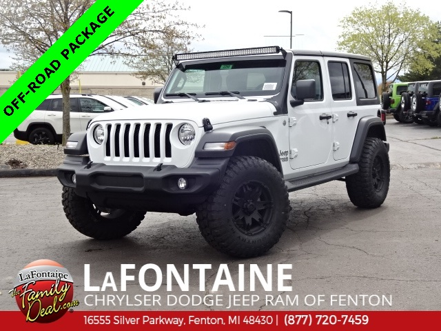 Jeep Wrangler Unlimited Sport >> New 2018 Jeep Wrangler Unlimited Sport Sport Utility In Fenton
